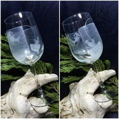 Marlin Fishing Wine Glass