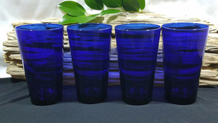Cobalt Blue Glass Beverage