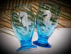 Seahorse Glass Goblets