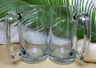 Large Clear Glass Mugs