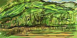 Montanha e plantações em Maquiné/RS