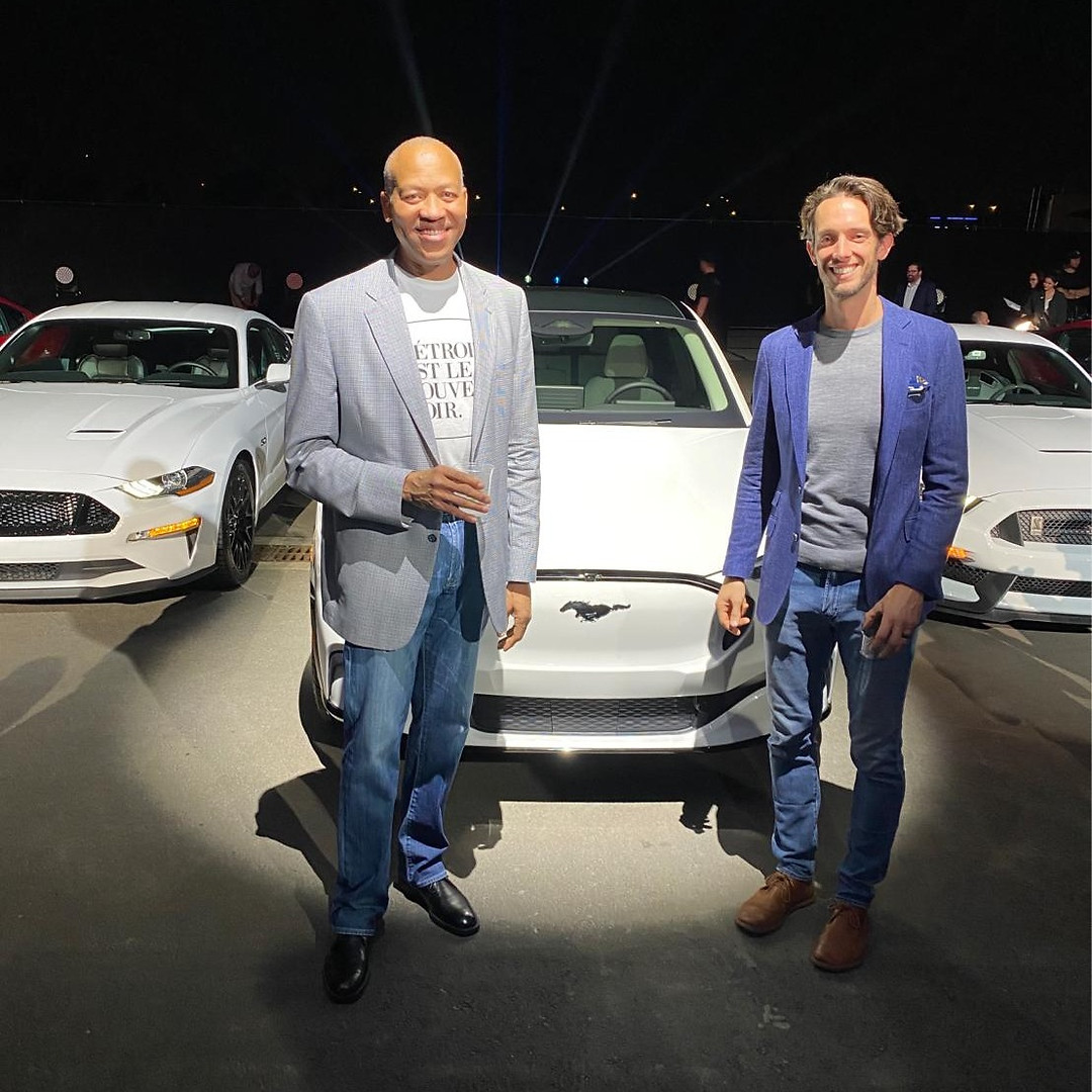 Chris George at the Ford Mustang Mach-E launch event.