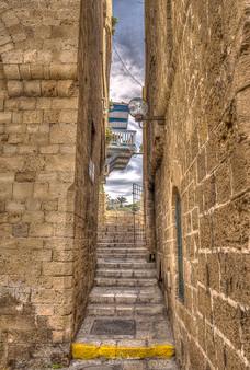 Jaffa Old town HDR st.jpg