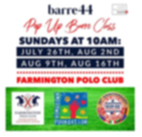 Barre44 Sundays at Farmington Polo Groun