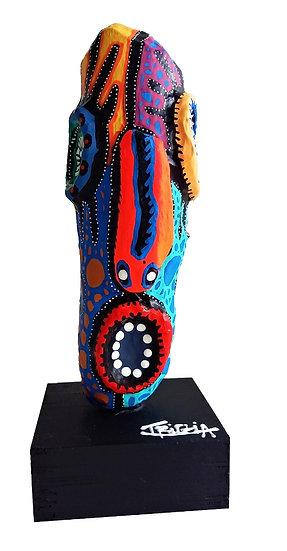 Totem - Acrylique sur bois - 29 x 11 x 10 cm
