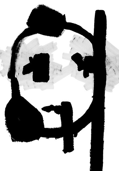 Figure 28 - Acrylique sur papier marouflé sur toile - 100 x 70 cm
