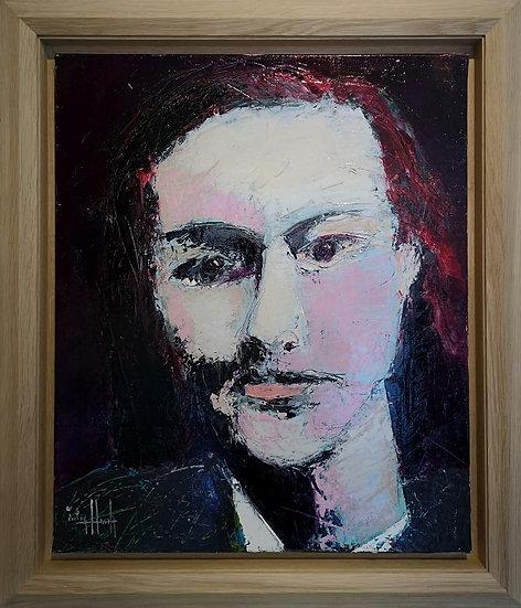 Série des poètes : Charles Baudelaire - 1997 - Acrylique sur toile - 65 x 54 cm