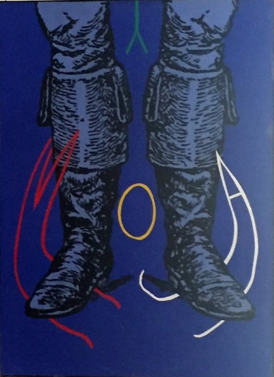 Moya à la botte - Acrylique sur toile - 1991 - 59 x 45 cm