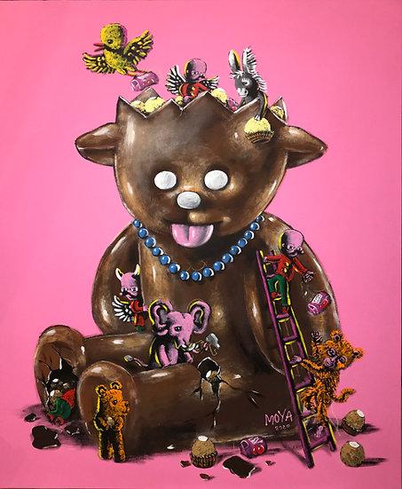 Dolly chocolat - Acrylique sur toile - 2020 - 130 x 97 cm