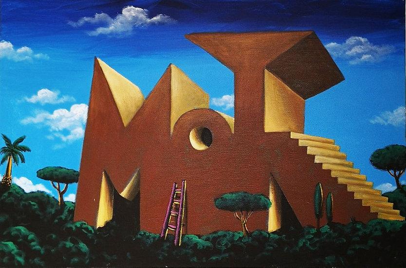 Moya Museum - Acrylique sur toile - 80 x 120 cm