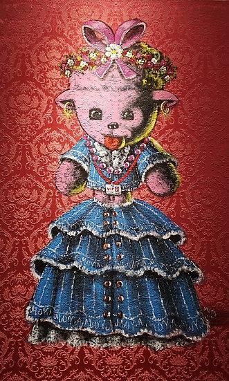 Dolly en ménines - Acrylique sur toile - 130 x 81 cm