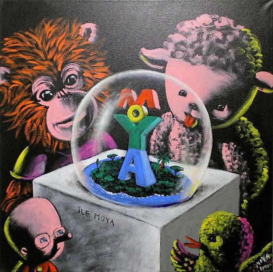 Ile Moya - Acrylique sur toile - 60 x 60 cm