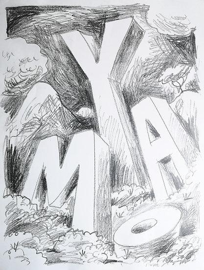 MOYA - Fusain sur papier - 65 x 50 cm