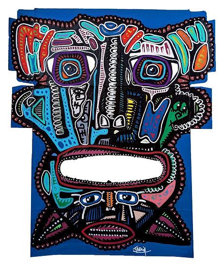 Famoso - Acrylique sur carton d'emballage - 2020 - 35 x 30 cm