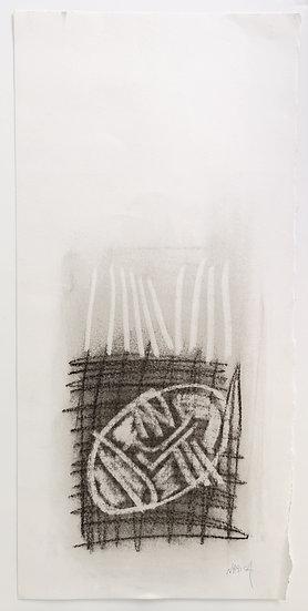 Sans titre - Fusain sur papier - 50 x 23,5 cm