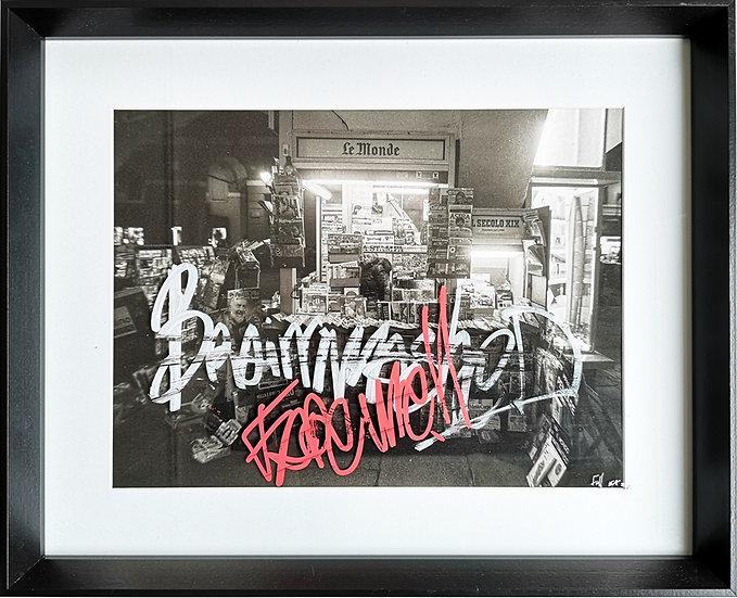 Brainwashed - Photographie rehaussée au posca - EA I/IV - 40 x 50 cm