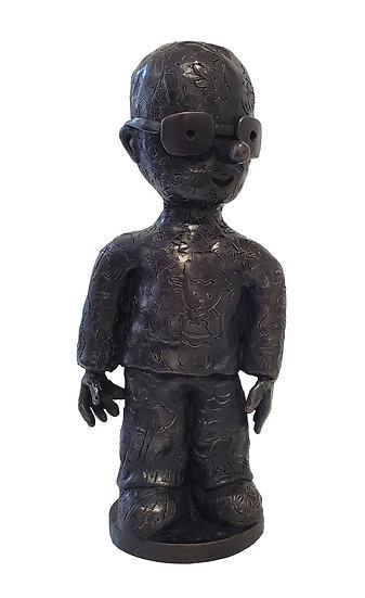 Moya gravé - Bronze - Pièce unique - 29 x 13 x 9.5 cm