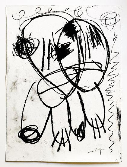 Sans titre - Fusain sur papier - 29,5 x 22 cm