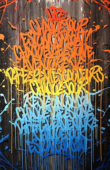 Life Philosophy - Acrylique sur toile - 195 x 130 cm - 2019