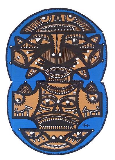 Temuco - Acrylique sur carton d'emballage - 2020 - 37 x 26 cm