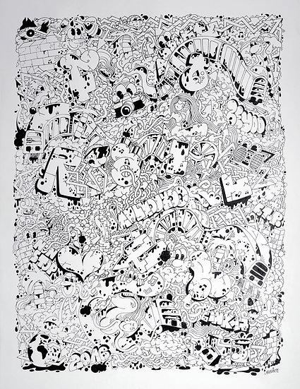 Forailver - Encre sur papier - 2016 - 65 x 50 cm