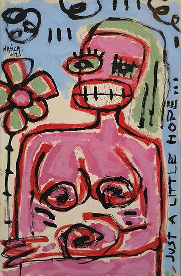 Just a little hope... - Acrylique sur toile - 91 x 60 cm
