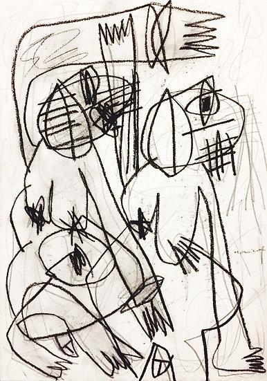 Sans titre - Fusain et crayon sur papier - 29.7 x 21 cm