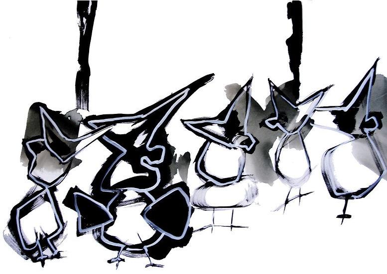 Grand Migrateur 8 - Acrylique sur toile - 81 x 116 cm