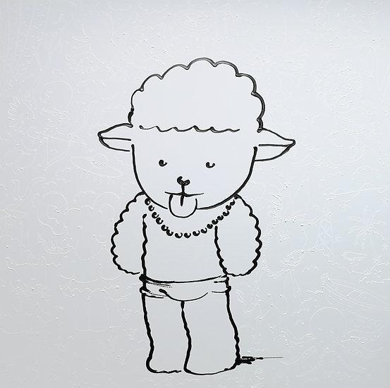 Dolly - Acrylique en épaisseur sur toile - 100 x 100 cm