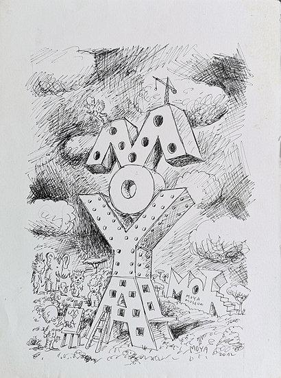 Moya Tower - Encre sur papier - 2012 - 33 x 24 cm
