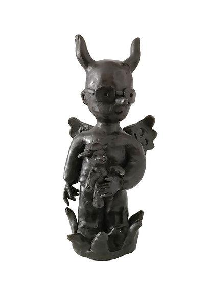 Moya petit diablotin - Bronze - Pièce unique - 32.5 x 16 x 11 cm