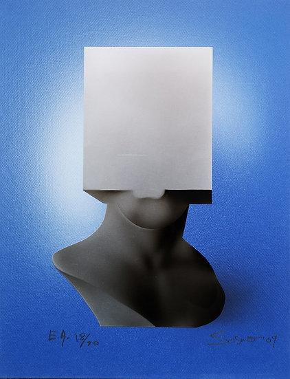 Tête carrée - Métalogravure - 2009 - EA 18/20 - 44 x 34 cm
