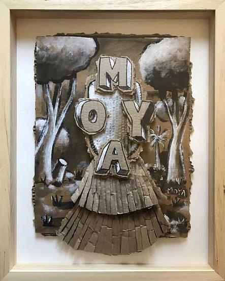 Masque - Acrylique sur carton - 49 x 39 cm