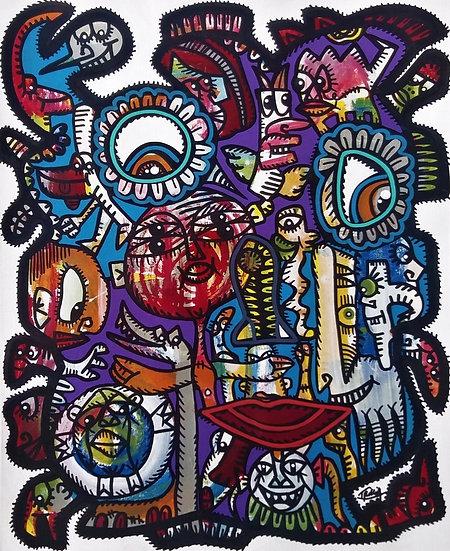 Sans titre - Acrylique sur papier - 41 x 33 cm