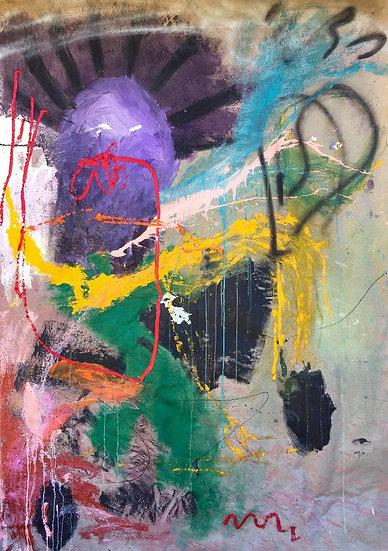 Untitle III - Technique mixte sur toile - 180 x 124 cm