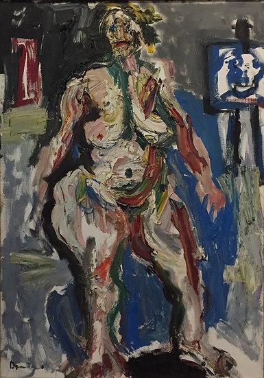 Nu féminin - Huile sur toile - 92 x 65 cm