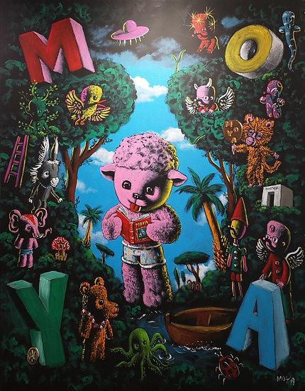 Dolly et ses amis - Acrylique sur toile - 146 x 114 cm