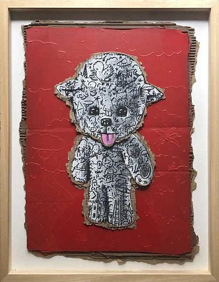 Dolly tatouée - Acrylique sur carton - 64 x 48 cm