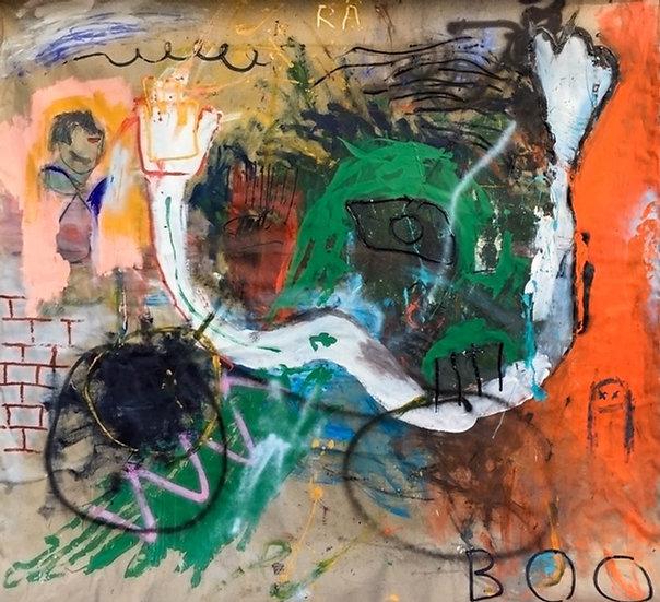 Boo - Technique mixte sur toile - 212 x 200 cm