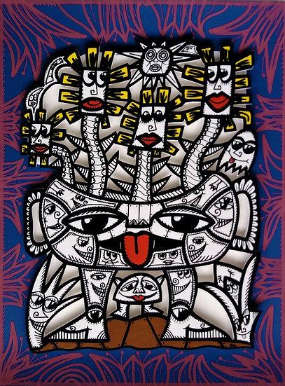 Sans titre - Acrylique sur carton plume - 2019 - 60 x 80 cm