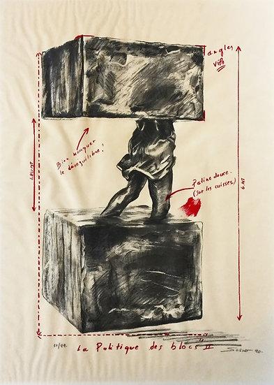 La politique des blocs II - Sérigraphie sur calque - 90 - 39/99 - 74.5 x 54.5 cm