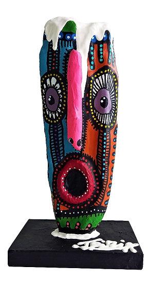 Totem - Acrylique sur bois - 28 x 14 x 9 cm
