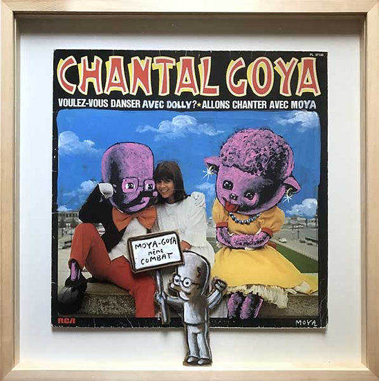 Moya / Goya même combat - Acrylique sur pochette de disque - 39 x 39 cm