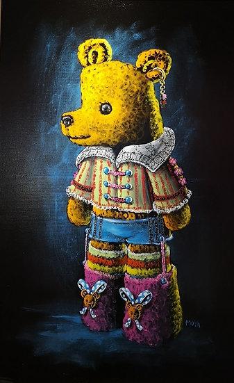 Un ours à la Renaissance - Acrylique sur toile - 130 x 81 cm