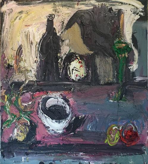 Natura morta - Huile sur toile - 1991 - 90 x 80 cm