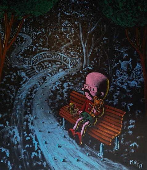 Moya aux petits jardins - Acrylique sur toile - 2m30 x 2m