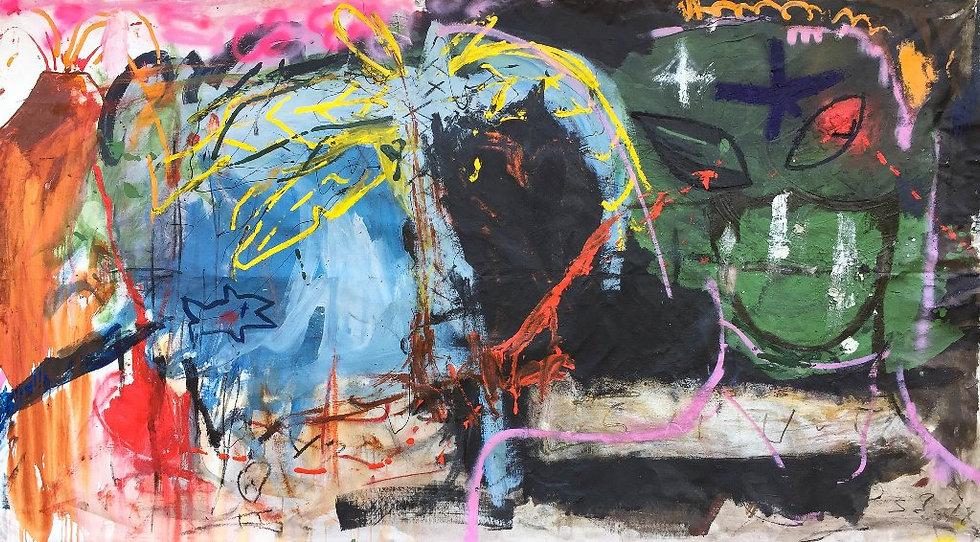 Tristes tropiques - Technique mixte sur toile - 217 x 119 cm