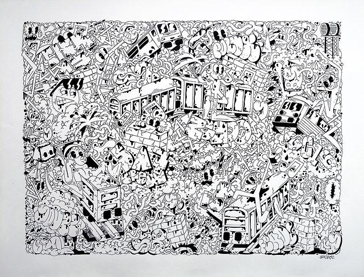 Sans titre - Encre sur papier - 2017 - 50 x 65 cm