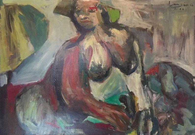 Femme nue - 1962 - Huile sur toile - 81 x 116 cm
