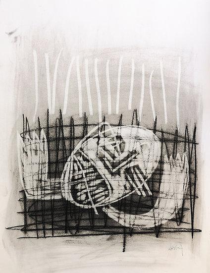 Sans titre - Fusain sur papier - 65 x 50 cm